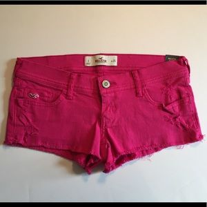 Hollister Pink Cotton Jean Shorts